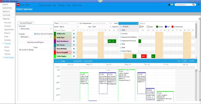 TimeLinx Web Calendar