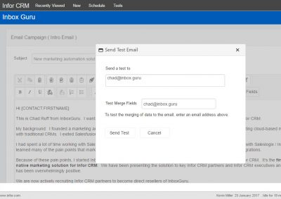 InboxGuru Testing Emails