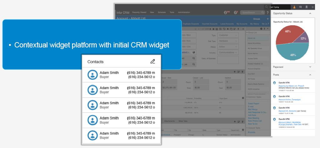 Infor CRM Contextual Widgets