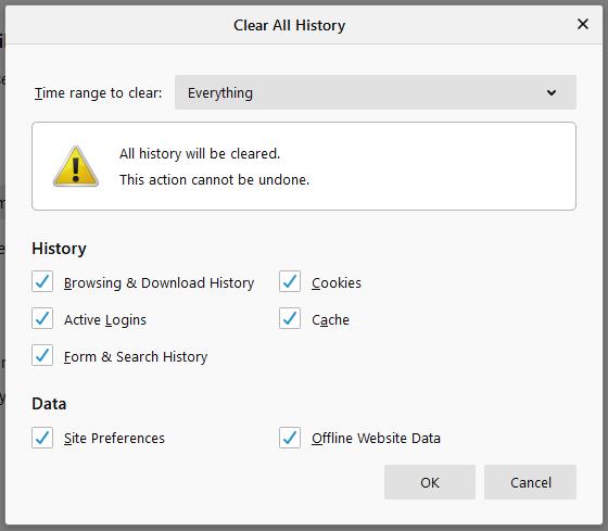 Firefox - clear cache