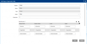 Edit Stage in Opportunity Entity Infor CRM