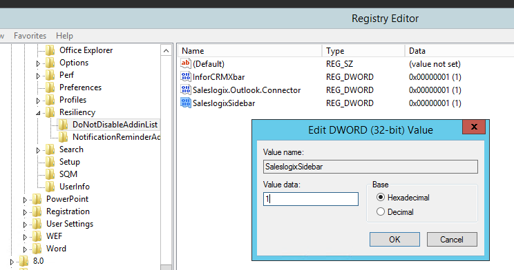 Resilency in Registry
