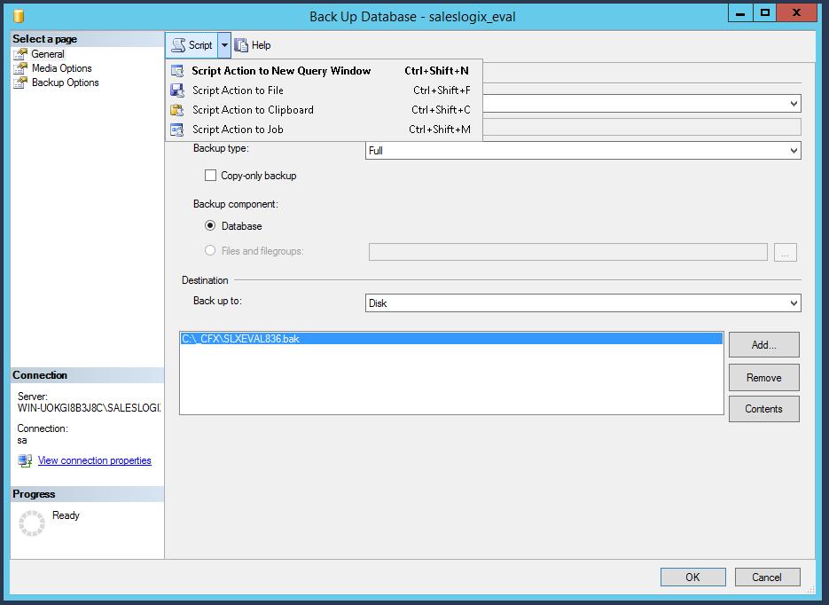 SQL Backup Job